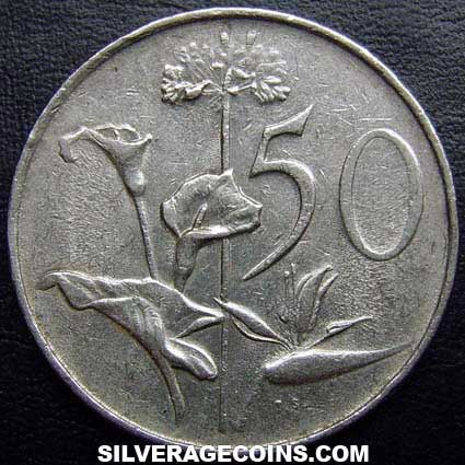 1970 South African 50 Cents Silveragecoins