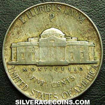 1945p 5 Centavos Quot Jefferson Nickel Quot Estadounidenses