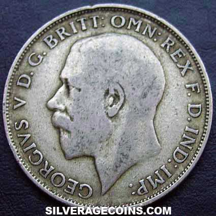 1922 bright George V British Silver Florin
