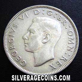 1945 George VI British Silver 2 Shillings