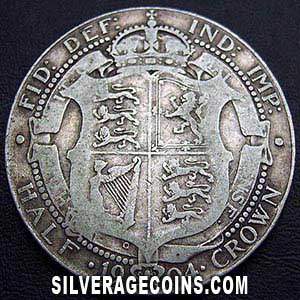 1904 Edward VII British Silver Half Crown