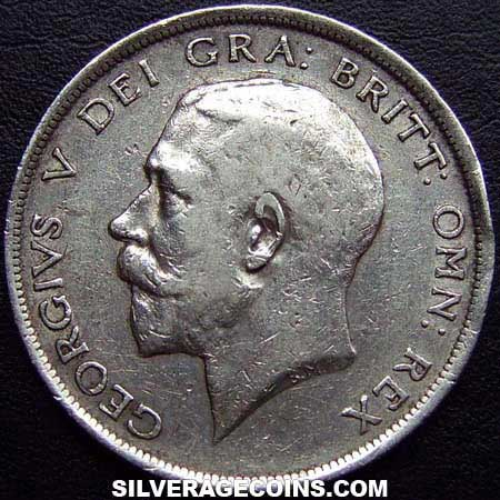 1915 George V British Silver Half Crown