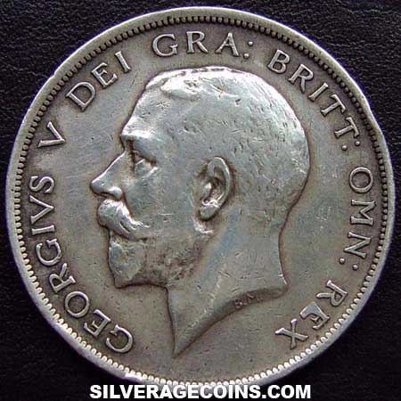 1917 George V British Silver Half Crown