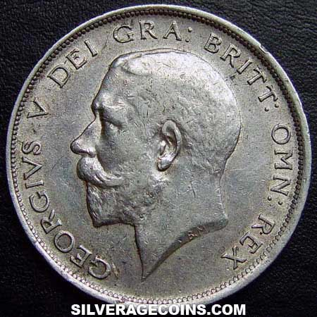 1918 George V British Silver Half Crown