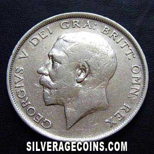 1919 George V British Silver Half Crown
