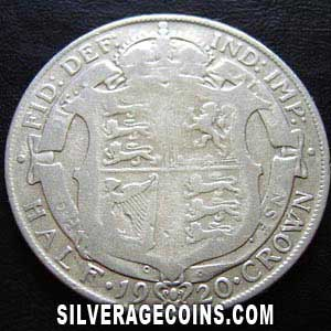 1920-1A George V British Silver Half Crown