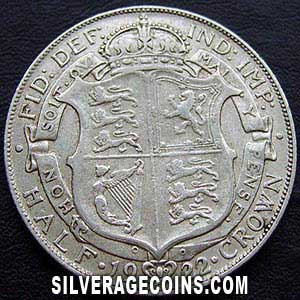 1922-3C George V British Silver Half Crown
