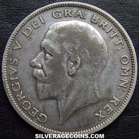 1928-1B George V British Silver Half Crown