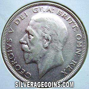 1933 large rev. George V British Silver Half Crown