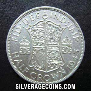 1943 George VI British Silver Half Crown