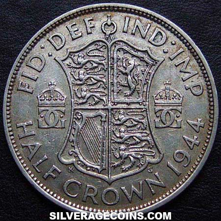 1944 George VI British Silver Half Crown