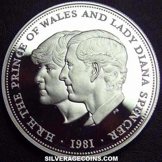 1981 Proof[BOX] Elizabeth II Silver Proof 25 Pence (Diana and Charles Wedding)