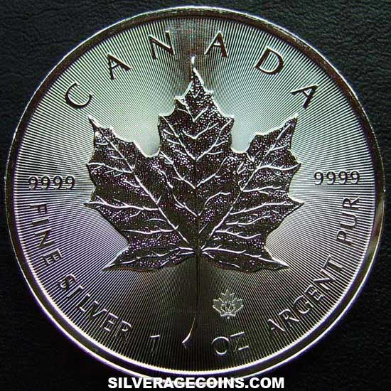 2014 Canadian 5 Dollars 1 Ounce Silver Maple Leaf