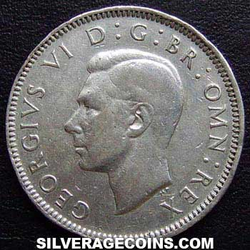 1944 George VI Scottish Silver Shilling