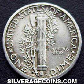 1916S United States Silver Mercury Dime 10 Cents