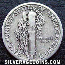 1927 United States Silver Mercury Dime 10 Cents