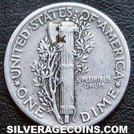 1943 United States Silver Mercury Dime 10 Cents