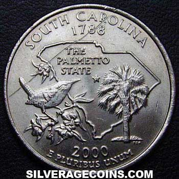 2000 D United States Washington Quarter (South Carolina)
