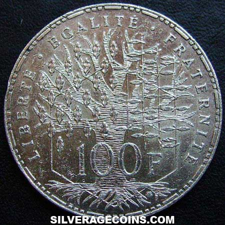 1983 French Silver 100 Francs