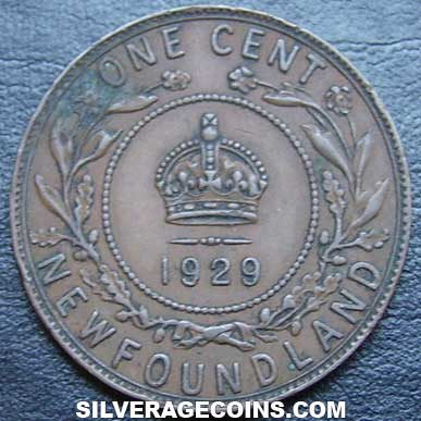 1929 George V Newfoundland Bronze Cent