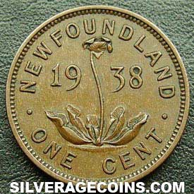 1938 George VI Newfoundland Bronze Cent