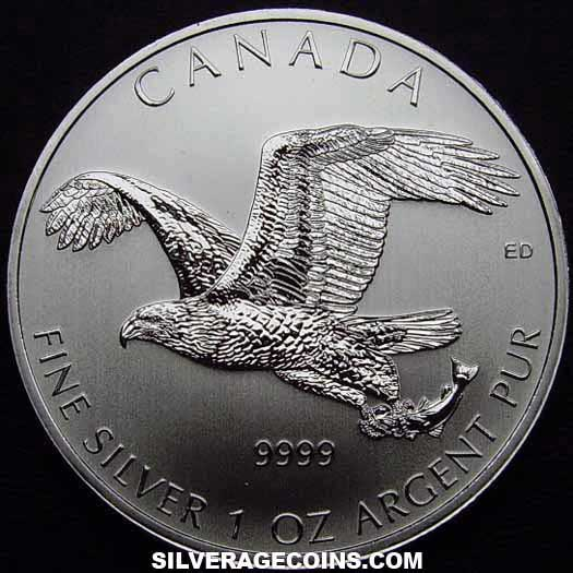 2014 Canadian 5 Dollars 1 Ounce Silver Birds Of Prey