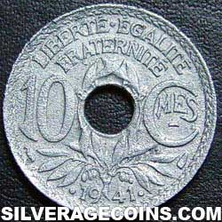 .1941. 10 French Cents