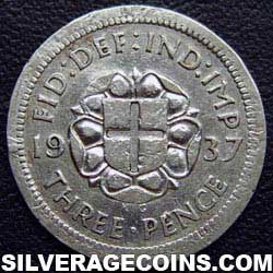 1937-1A George VI British Silver Threepence