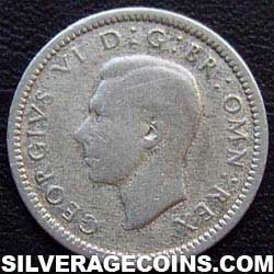 1941 George VI British Silver Threepence