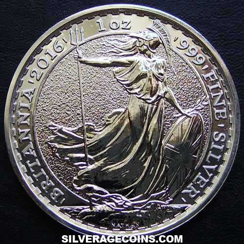 2016 2 Pounds 1 Ounce Silver Britannia (.999)