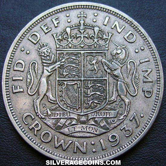 1937 George VI British Silver Crown