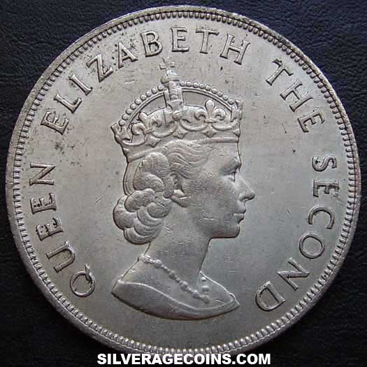 ND (1966) Elizabeth II Jersey 5 Shillings (Norman Conquest)