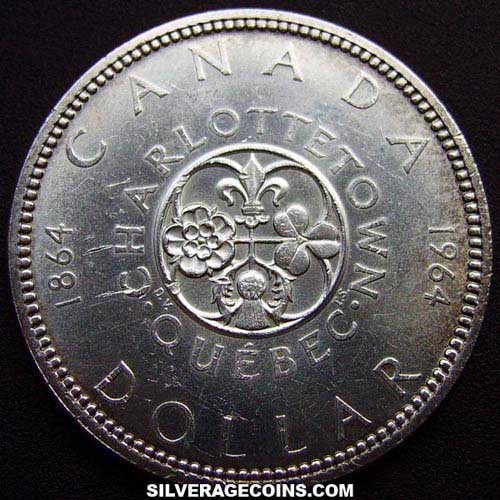 Nd 1964 Elizabeth Ii Canadian Silver Dollar