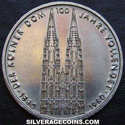 1980 F German Federal Republic 5 Marks (Cologne Cathedral)