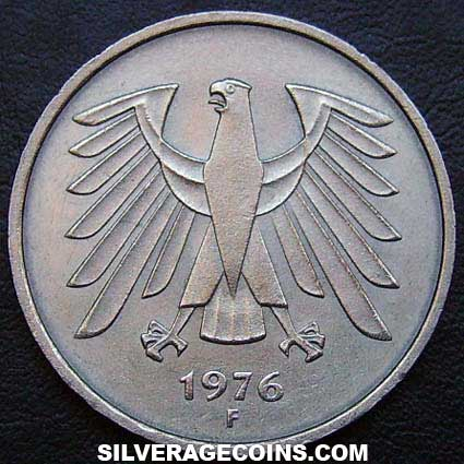1976 F German Federal Republic 5 Marks