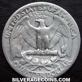 1941S United States Washington Silver Quarter