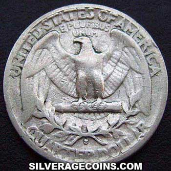 1944S United States Washington Silver Quarter