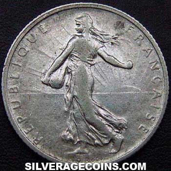 1909 French Silver Franc