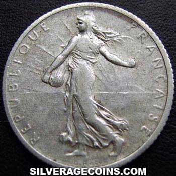 1915 French Silver Franc
