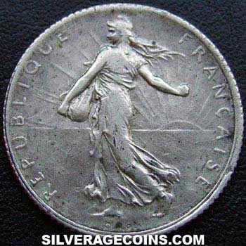 1919 French Silver Franc