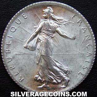 1920 French Silver Franc