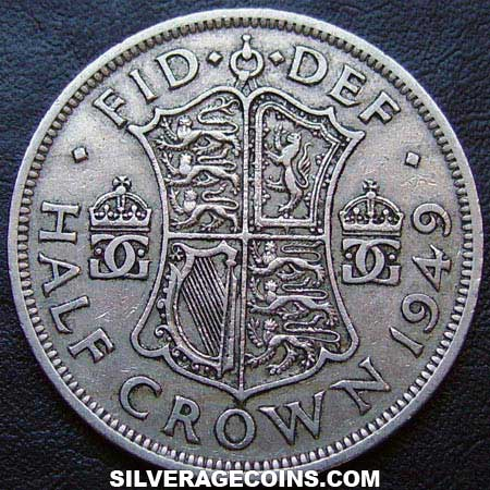 1949 George VI British Half Crown