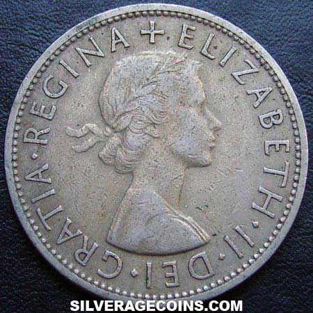 1957 Elizabeth II British Half Crown