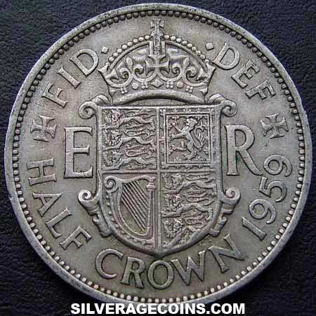 1959 Elizabeth II British Half Crown