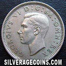 1948 George VI British Sixpence