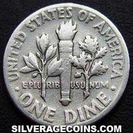 1948 United States Silver Roosevelt Dime 10 Cents