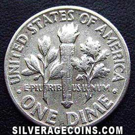 1951 United States Silver Roosevelt Dime 10 Cents