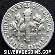 1959D United States Silver Roosevelt Dime 10 Cents