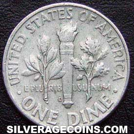 1963D United States Silver Roosevelt Dime 10 Cents