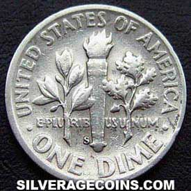 1948S United States Silver Roosevelt Dime 10 Cents